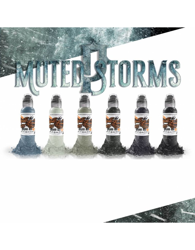 WORLD FAMOUS INK® Poch's Muted Storms Set - 1oz - 6x30ml