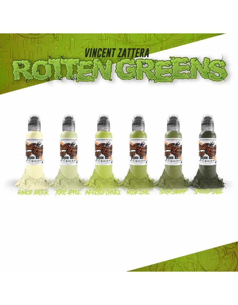 WORLD FAMOUS INK® Vincent Zatter's Rotten Green Set - 1oz - 6x30ml