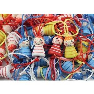 Gelukspiraatjes. Gelukspoppetjes in 4 verschillende kleuren