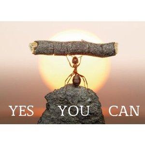 Gelukskaart 'Yes you can'