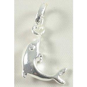 Zilveren hanger dolfijn 1,5 cm