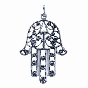 Zilveren hanger Hamsa Handje 3 cm