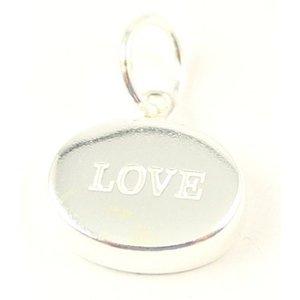 Zilveren hanger Love