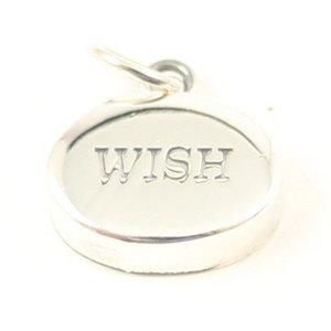 Ketting hanger zilver met tekst WISH