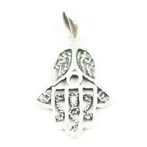 Zilveren hanger handje van Hamsa