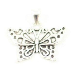 Vlinder zilveren ketting hangertje