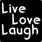 Sticker Live Laugh Love