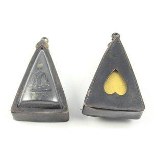 Donker amulet met boeddha