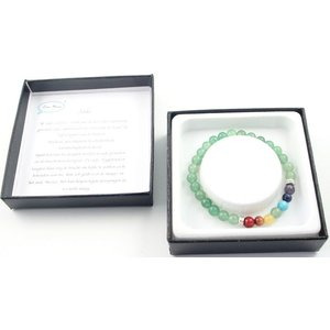 Jade armband met chakra steentjes.