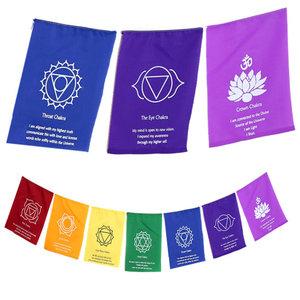 Chakra vlaggen met affirmaties