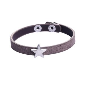 Armbandje ster met bruin bandje