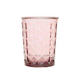 """Hübsch Interior Teelichthalter """"Facette"""" Rosa"""