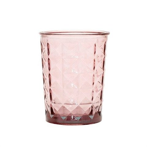 """Teelichthalter """"Facette"""" Rosa von Hübsch Interior"""