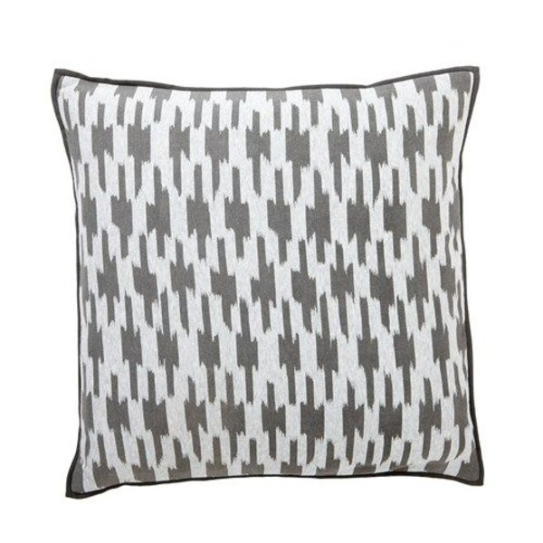 Hübsch Interior Grau-weißes Kissen von Hübsch Interior