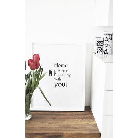 """Poster """"Happy Home"""" von na.hili"""