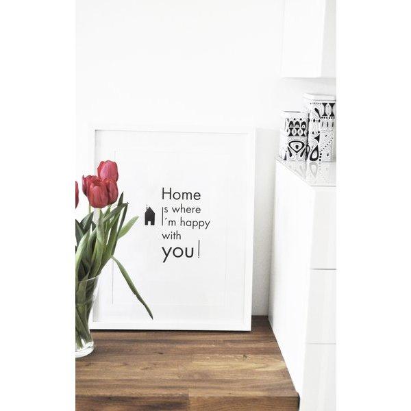 "na.hili Poster ""Happy Home"" von na.hili"