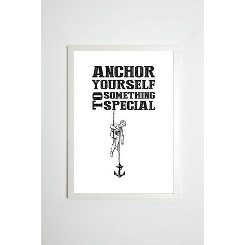 """Poster """"Anchor yourself"""" von Kaltenbach's Töchter"""