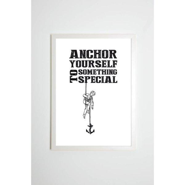 """Kaltenbachs Töchter Poster """"Anchor yourself to something special"""" von Kaltenbach's Töchter"""
