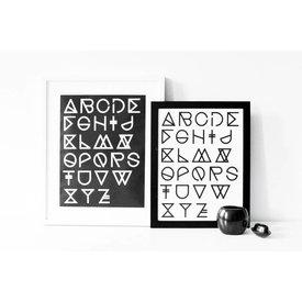"""na.hili Poster """"Geometrical ABC"""" von na.hili"""
