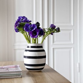 """Kähler Design Vase """"Omaggio"""" Schwarz"""