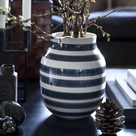 """Vase """"Omaggio"""" Grau"""