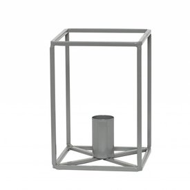 Hübsch Interior Metall-Kerzenständer Grau