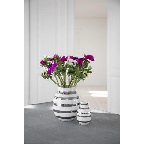 "Vase ""Omaggio"" Silber"