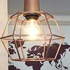 Leuchte mit Metallkorb von Hübsch Interior