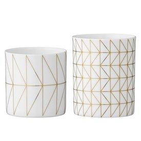 Bloomingville Teelichthalter-Set Weiß/Gold von Bloomingville