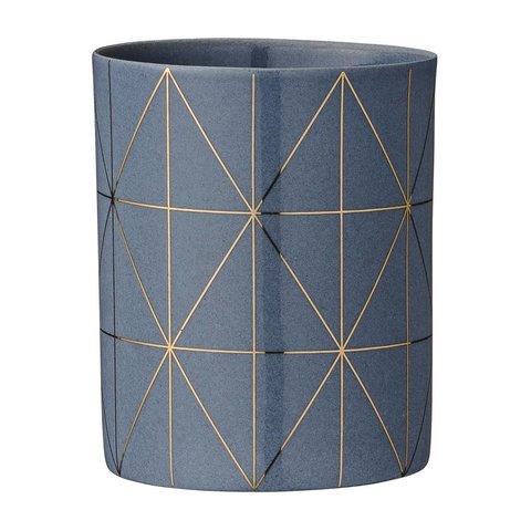 Teelichthalter Grau/Gold