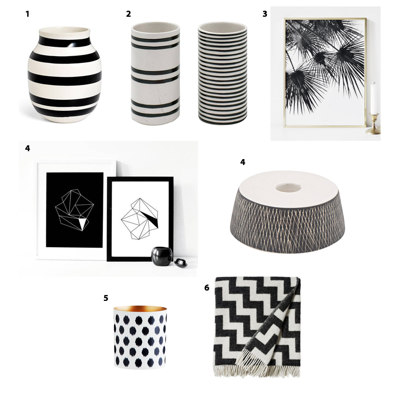 deko schwarz wei deko schwarz wei bis zu 70 sparen i. Black Bedroom Furniture Sets. Home Design Ideas