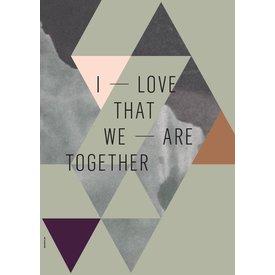 "I LOVE MY TYPE Poster ""together"" von I LOVE MY TYPE"