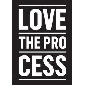 "I LOVE MY TYPE Poster ""Process"" von I LOVE MY TYPE"