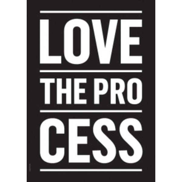 "I LOVE MY TYPE Poster ""Process, Black"" von I LOVE MY TYPE"