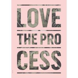 "I LOVE MY TYPE Poster ""Process, Light Pink"" von I LOVE MY TYPE"