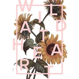 "I LOVE MY TYPE Poster ""Wild at Heart, Candy Pink"" von I LOVE MY TYPE"