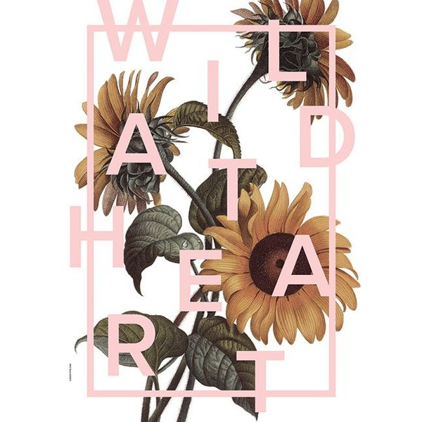 "I LOVE MY TYPE Poster ""Wild at Heart, Candy Pink"" von I LOVE MY TYPE"