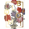 "Poster ""Bloom, Gold"" von I LOVE MY TYPE"