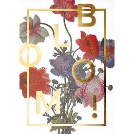 """I LOVE MY TYPE Poster """"Bloom, Gold"""" von I LOVE MY TYPE"""