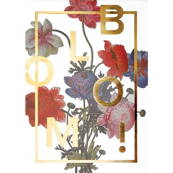 "I LOVE MY TYPE Poster ""Bloom, Gold"" von I LOVE MY TYPE"