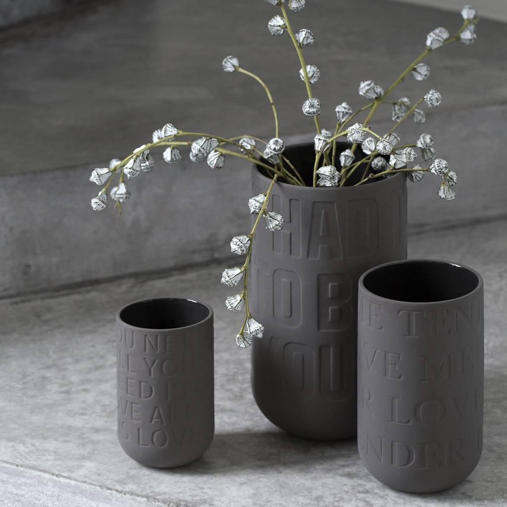 k hler design vase love song anthrazit stilherz. Black Bedroom Furniture Sets. Home Design Ideas