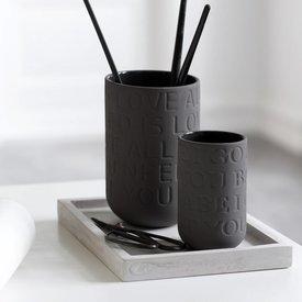 """Kähler Design Vase """"Love Song"""" Anthrazit"""