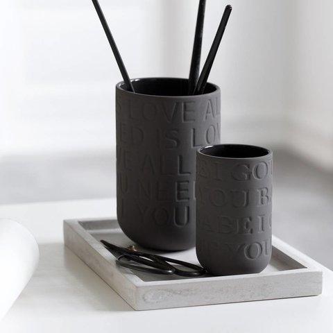 """Vase """"Love Song"""" Anthrazit von Kähler Design"""