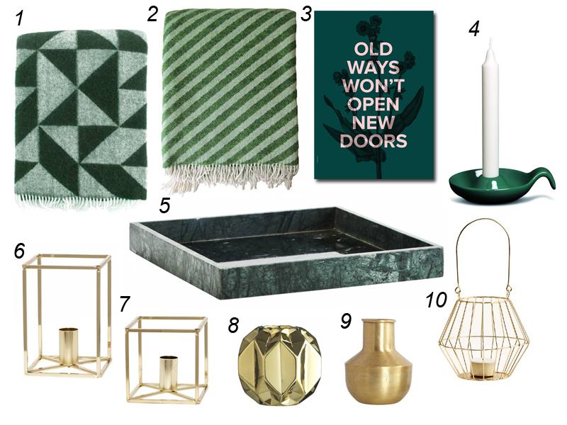 wohntrend gr n und gold stilherz. Black Bedroom Furniture Sets. Home Design Ideas