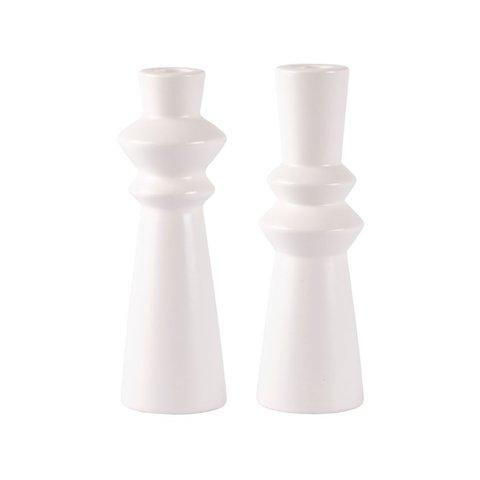 Kerzenständer-Set Weiß von bovictus