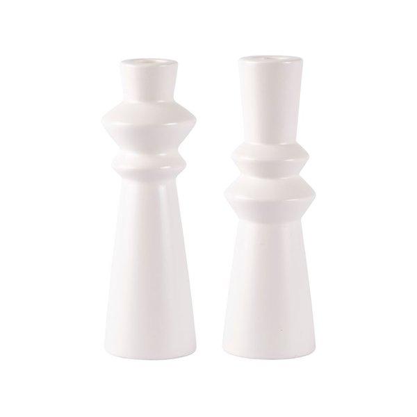 bovictus - KJ Collection Kerzenständer-Set Weiß von bovictus