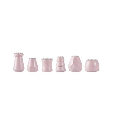 Kerzenständer-Set Rosa