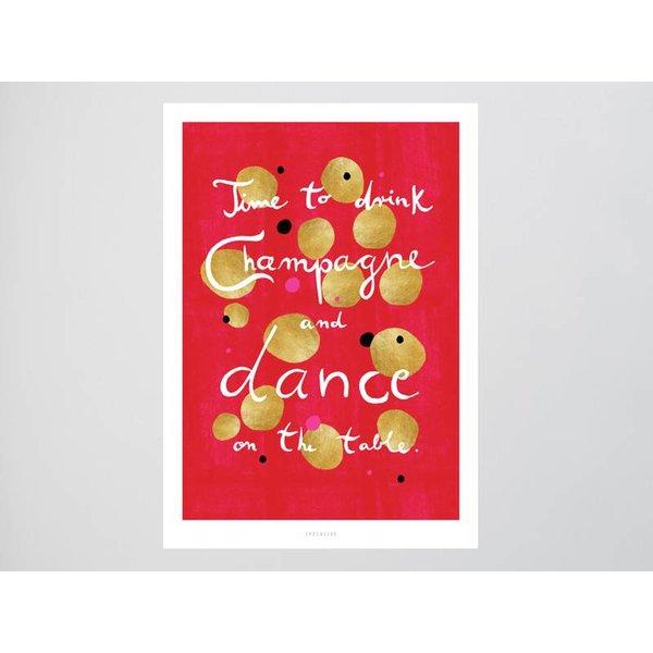 """typealive Postkarte """"Dance"""" von typealive"""