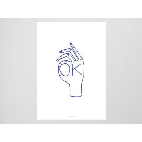 "Postkarte ""Ok"" von typealive"