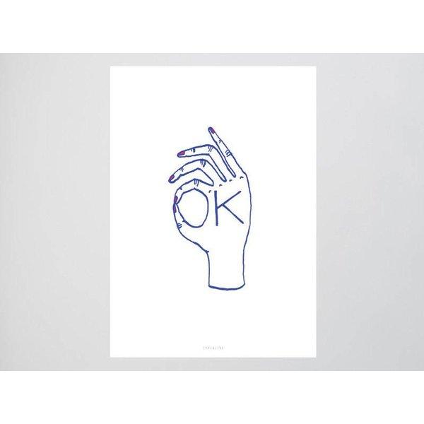 "typealive Postkarte ""Ok"" von typealive"